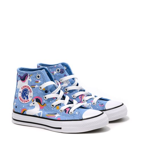 Tenisi Fete 665472C Chuck Taylor All Star Unicons Junior Light Blue